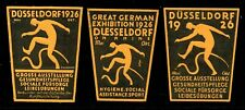 Germany Poster Stamps - 1926 Düsseldorf Health & Hygiene Expo - 3 Diff.