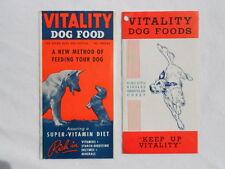 Vintage Vitality Dog Food Brochure Ads
