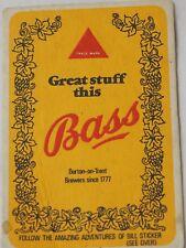 BASS BEER Coaster The Amazing Adventures of BILL STICKER 1928