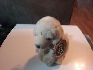 FAO Schwarz Tan Golden Retriever Lab Puppy Plush Stuffed Dog NEW With Tag!