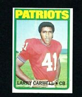 NM 1972 Topps Football High Number #299 Larry Carwell RC.
