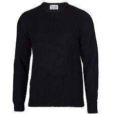 Archer - 100% Pure Lambswool -  Men's Black Jumper Sweater