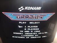 Gradius Nintendo NES Video Game Cartridge/Sleeve Konami - 3 Screws Tested Used