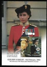 GAMBIA MNH 2002 REIGN OF QUEEN ELIZABETH II, 50TH ANNIVERSARY