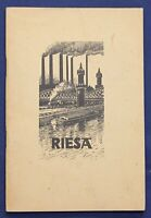 Chronik der Stadt Riesa 1936 Geschichte Ortskunde Geografie Sachsen Saxonica sf