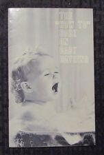 1960 The How To Book On Baby Bathing FVF proctor & Gamble Ivory Soap Promo 26 pg