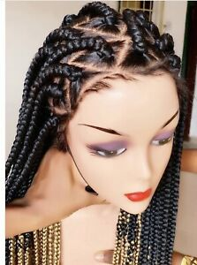 Braided wig: handmade cornrow Ghana weave with Full Lace 30Inches . Preorder
