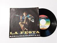 Adriano Celentano – La Festa / Ringo - Disco Vinile 45 Giri Stampa ITALIA 1965