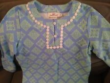Vineyard Vines Girls Tunic Dress  Long Sleeved Patterned  Sz Xs  💙Cute🍰🎂