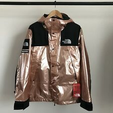 SUPREME X THE NORTH FACE METALLIC MOUNTAIN PARKA JACKET ROSE GOLD TNF M