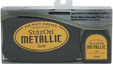 Tsukineko 432723 StazOn Metallic Ink Kit-gold-
