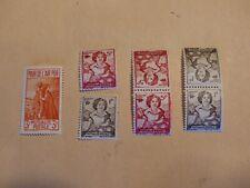 FRANCE  Mutualité postale 44,45,31 et 44 + 45 tête bêche