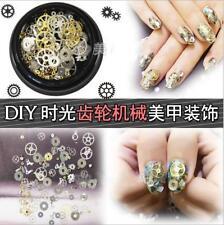 100pcs Nail Art Transfer Sticker Decal 3D Gear Design Manicure Tips Decor Tool