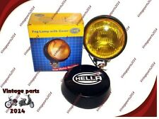 Brand New Hella Round Fog Lamp Yellow Glass + Cover Without Bulb