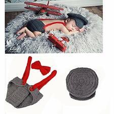 Newborn Baby Kid Boy Costume Crochet Outfits Photography Props Cap Beanie Diaper