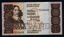 SOUTH AFRICA  20 Rand 1984 VF P 121 c