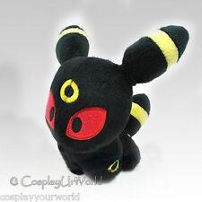Dark Umbreon Pokemon Eevee Evolution Soft Plush Doll Toy Collectible PKM #197