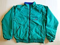 Vintage Patagonia Jacket Mens Large Green with Blue Lining