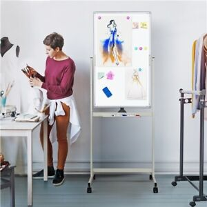 Mobile Magnetic Whiteboard 40X24 Double Sided Dry Erase Board with Stand Large