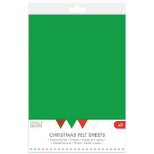Simply Creative Christmas Felt A4 Sheets Multipack - Pack of 8