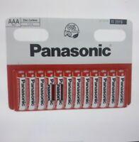 12 Piles Panasonic AAA LR3 1,5V Longue Durée date 2022