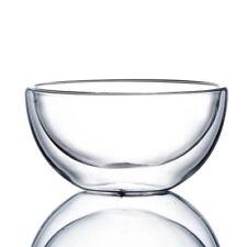 Doppia Parete di Vetro Trasparente Tè Ciotola Chawan 500ml 17 oz (L)