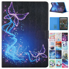 For Amazon Kindle Fire HD 8 Plus/HD 8 10th Leather Case Smart Stand Flip Cover