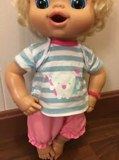 """Fits Larger 15"""" 16"""" Baby Alive Doll Doll Clothes T-shirt Bloomer Pants Blue Pink"""