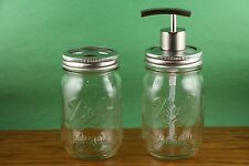 BALL MASON JAR SOAP DISPENSER AND TOOTH BRUSH HOLDER