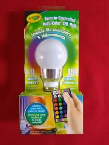 Crayola Remote-Controlled Multi-Color LED Bulb - 4 Modes 15 Color Changing