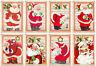 Jolly Santa Christmas Glossy Finish Card Making Topper - Crafts