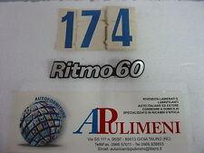 "345/60 FREGIO-LOGO-SIGLA-SCRITTA  (BADGE) IN PLASTICA FIAT ""RITMO 60"""