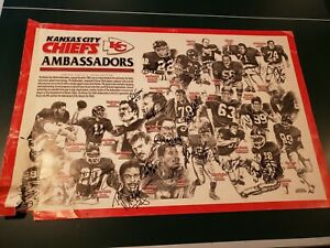 Kansas City Chiefs Signed Poster Photo 24x36 Team Ambassadors Bobby Bell + more