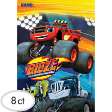 Blaze And The Monster Machines Party Supplies LOOT BAGS Favour Bags Pack Of 8