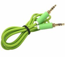 3.5mm Jack to Jack Audio Aux Cable For Iphone 6,6Plus,5S,5C,4S,4,IPAD,IPOD GREEN