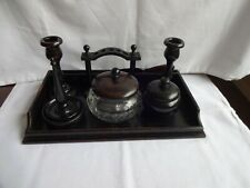 Vintage Real Ebony Beautiful 9 Piece Dressing Table Set