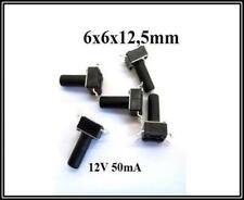 Mikrotaster Taster SMD 6x6x12,5mm Mikroschalter Drucktaster 12V 50mA 250 Stück
