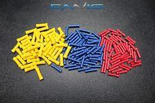 150 PK 10-12 14-16 18-22 GAUGE VINYL BUTT CONNECTORS 50 PCS EACH TERMINAL BARREL