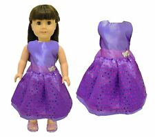 Doll Clothes Purple Dress Outfit  Fits American Girl & Other 18 Inch Dolls
