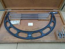 Starrett 16 20 Set 224 E Outside Interchageable Anvil Micrometer 001 D917