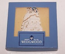 Lovely Wedgwood Jasperware White Jasper Santa With Gold Ornament In Box