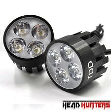 Head Hunters TDD-2906 Universal Motorcycle Four LED Fog Light set of 2