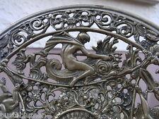 Poseidon Neptun & Fabelwesen Bronze um1880 Servier Schale Bartmann Adler Etagere