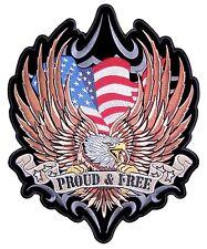 большой американский флаг орел и горд Бесплатная вышитая нашивка мотоциклиста Бесплатная доставка