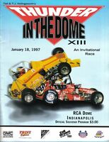 1997 (Jan.18) Thunder in the Dome XIII Kart Races RCA Dome Indianapolis program