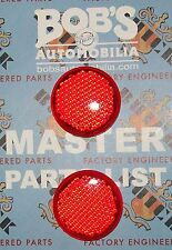 A NEW PAIR OF BUICK 1956 TAILIGHT RED REFLECTOR LENS AND A PARTS FOR SALE LIST