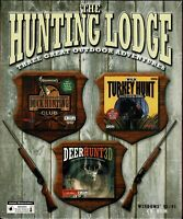 Duck Hunting Club & Wild Turkey Hunt & Deer Hunt 3D Pc New Boxed XP 3 Full Games
