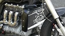 stainlees steel radiator cover / radiator guards Triumph Rocket 3 + grille