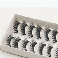 Natural Fashion 10 Pairs 100% Real Mink Hair Thick False Eyelashes Strip Lashes