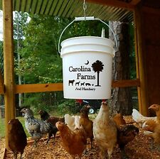 2 Gallon Hanging Bucket Poultry Nipple Waterer - Chicken, Guinea, Turkey, Duck